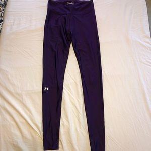 Under Armour purple compression heatgear legging